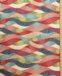 Colourful waves Fabric UK 80% Cotton 20% Poly material upholstered feel - Price Per Metre